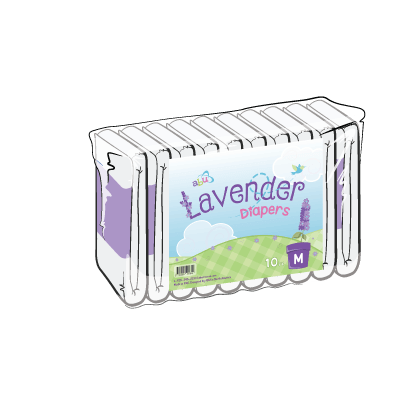 Front Diapers Lavender