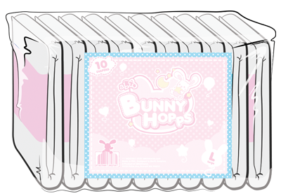 ABUniverse BunnyHopps 2-Tape Diapers